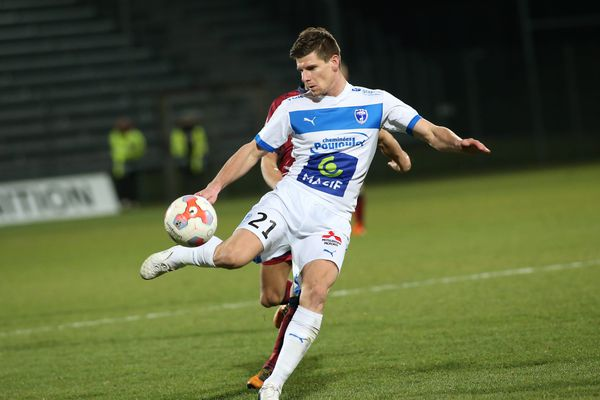 Jérémy Choplin, défenseur des Chamois Niortais, février 2016.
