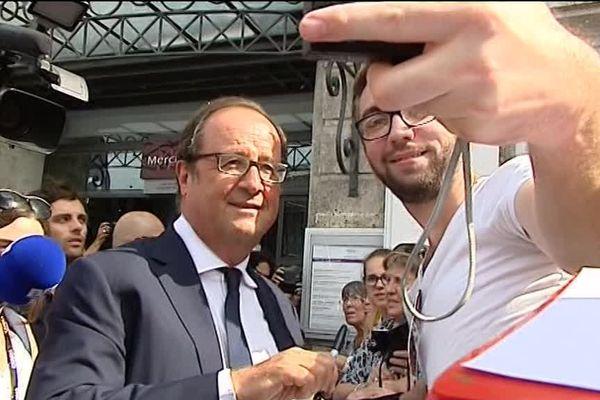 François Hollande est arrivé cet après-midi à Angoulême pour l'ouverture du 10ème Festival du Film Francophone.