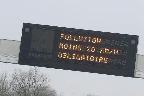 Réduction de la vitesse maximale autorisée par mesure de sécurité sanitaire.