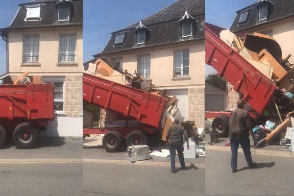 """Des images extraites de la vidéo """"Retour à l'envoyeur"""" postée par un propriétaire de Rozoy-sur-Serre"""