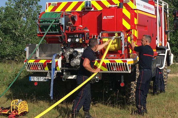 Exercice grandeur nature pour les pompiers du Lot