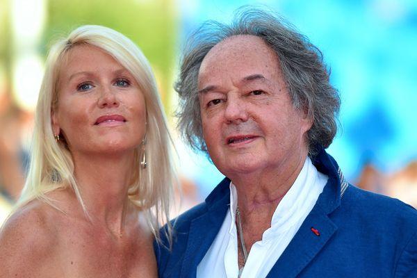Gonzague Saint-Bris et sa compagne le 7 septembre 2016, au festival de Deauville.