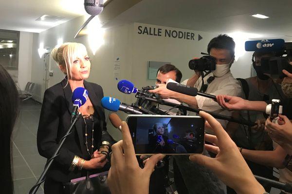 Me Sylvie Galley, avocate de la famille de Narumi Kurosaki, le 24 juillet à Besançon