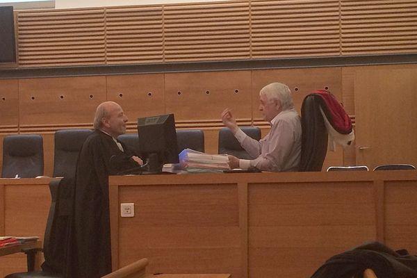 Procès Corscia : Me Dominique Mattei, avocat de Jean-François Federicci avec Pierre Cortès, avocat général.