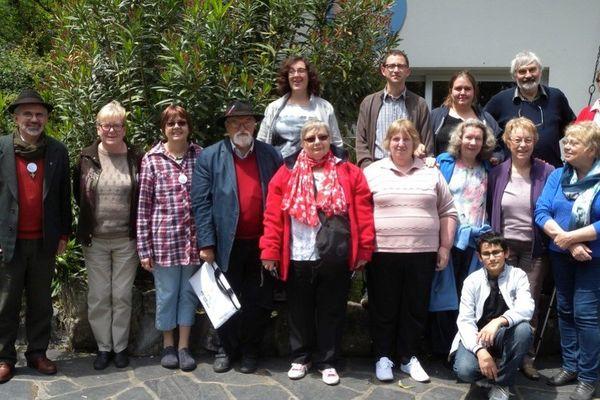 Quelques uns des membres de la mission ouvrière de Rouen.