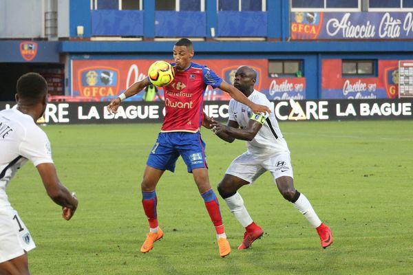 Le match Gazélec FC Ajaccio-Paris FC, le 27 juillet 2018.