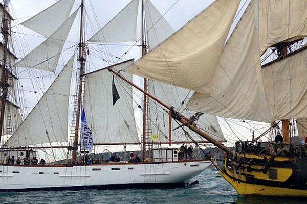 Sète (Hérault) - après une semaine de fête, les voiliers quittent le port - 28 mars 2016.