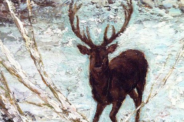 Détail d'un tableau de Courbet