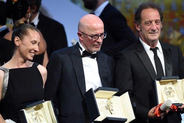 Emmanuel Bercot, le réalisateur Jacques Audiard, et Vincent Lindon