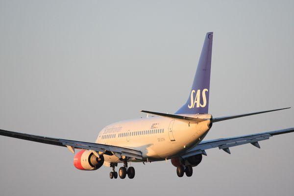 Un avion de la compagnie scandinave SAS.