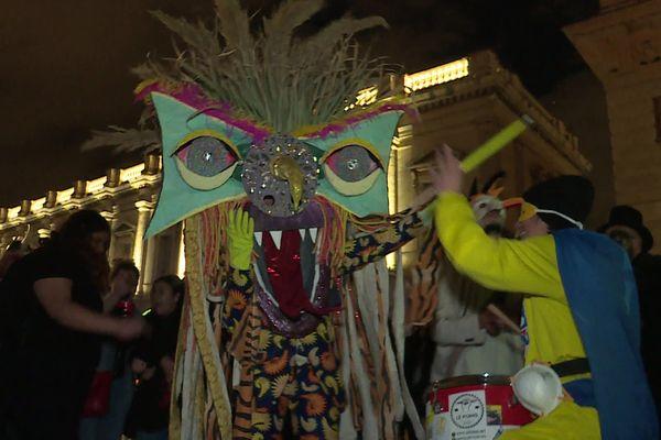 Le Karanaval des gueux a eu lieu mardi à Montpellier malgré l'arrêté d'interdiction préfectoral.