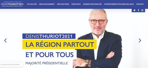 Capture d'écran du site de Denis Thuriot le 17 mai 2021