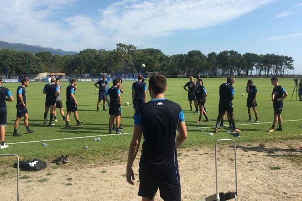 National 3 - Reprise de l'entraînement pour le SC Bastiais, le lundi 9 juillet 2018.