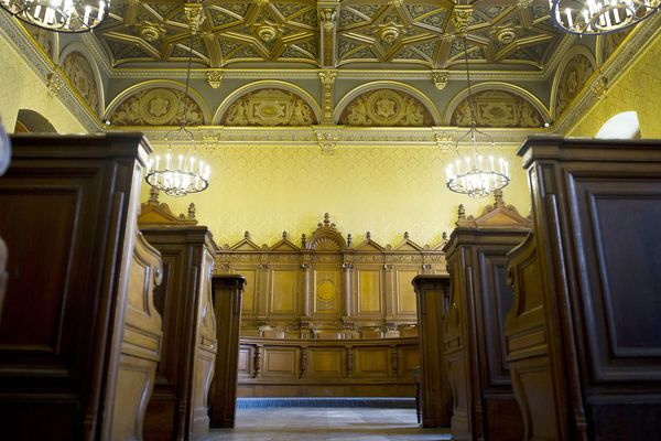 Vue  intérieure. Cour d'appel de Paris.