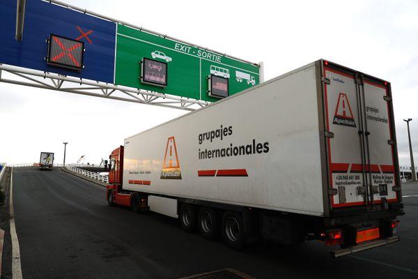 A Calais, ce vendredi 1er janvier 2021.