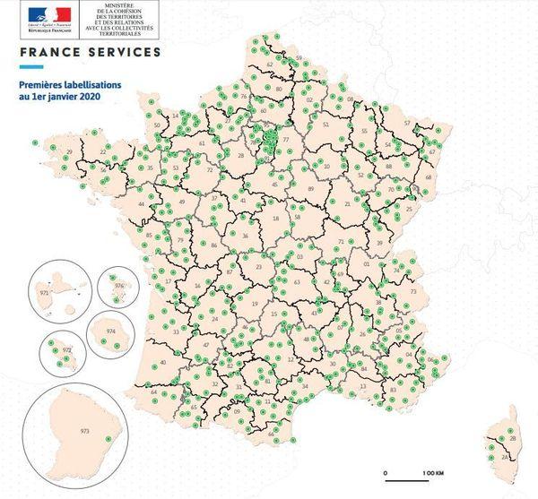 460 espace France Services sont labellisés en France, 43 en Normandie