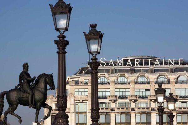 La façade de la Samaritaine, à Paris, le 16 février 2020.