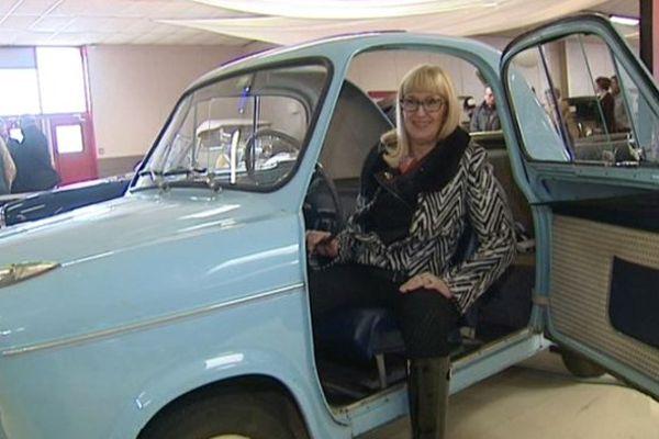 Anne-Marie Chaumas est une des rares femmes membre du Club des amateurs montluçonnais de véhicule ancien.