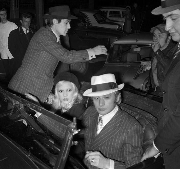 Johnny Hallyday et Sylvie Vartan à Paris, le 20 janvier 1968