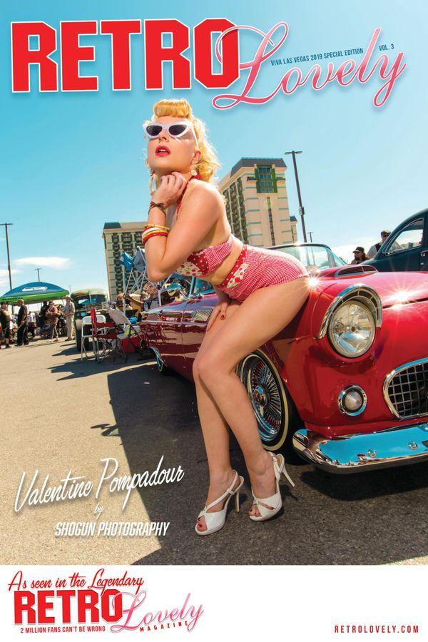 Valentine Pompadour première française en une du magazine rockabilly Retro Lovely