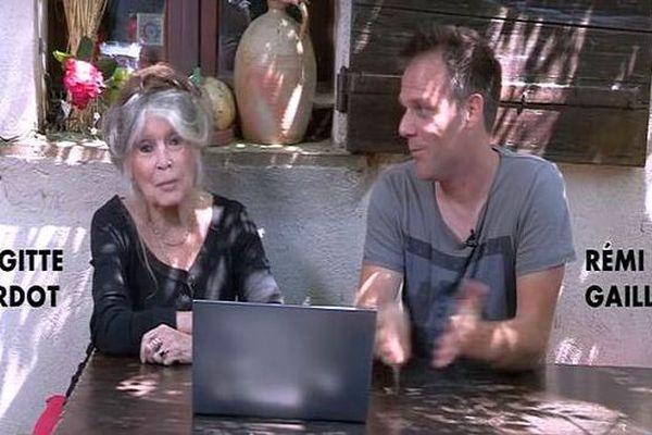 Brigitte Bardot et l'humoriste héraultais Rémi Gaillard s'associent pour réclamer la vidéosurveillance dans les abattoirs - mai 2018.