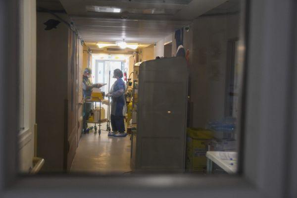 Le service dédié aux patients atteints du Covid-19, à l'hôpital de Bastia.