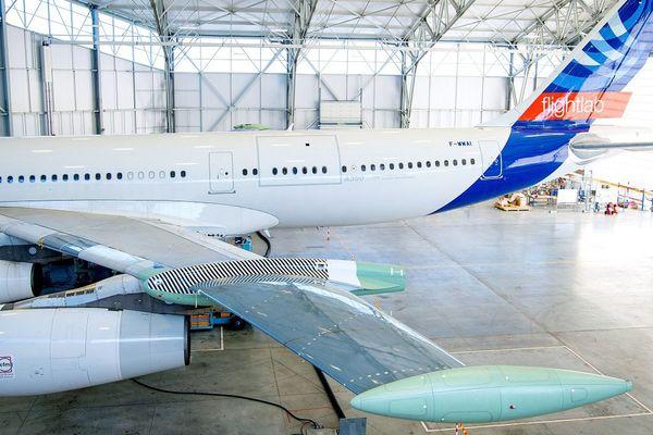 Des portions d'A340 serviront à fabriquer des brise-soleil intégrés au futur stade rénové de la Meinau