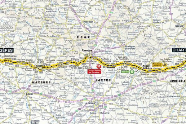 Parcours de la 7ème étape du Tour de France 2018