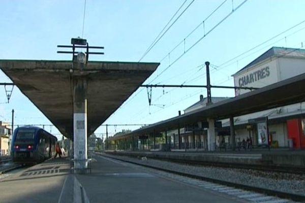 La gare de Chartres, en Eure-et-Loir