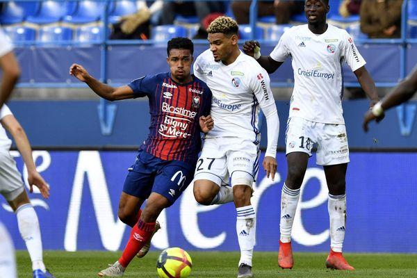 Yoël Armougom était titulaire lors du dernier match de championnat disputé le dimanche 17 février au stade d'Ornano face au Racing-club de Strasbourg