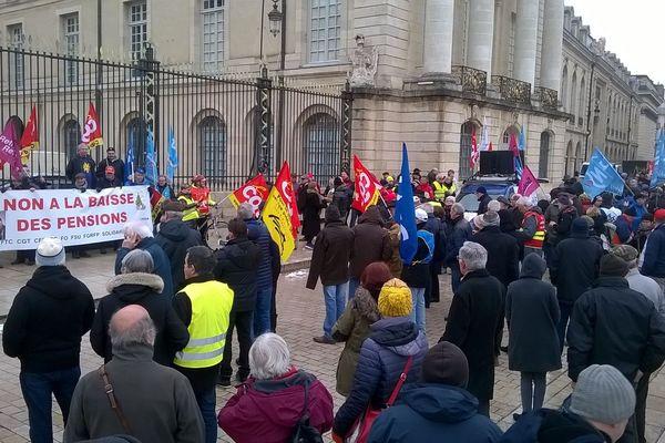 Environ 500 personnes ont participé au rassemblement à Dijon ce jeudi 31 janvier 2019.