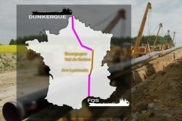 Le futur gazoduc Arc Lyonnais-Val de Saône qui a fait l'objet du débat public
