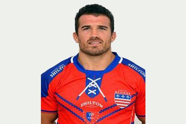 Maxime Veau, 30 ans, joueur de l'AS Béziers-Hérault rugby - 2018.