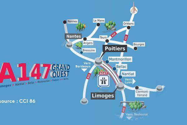 Projet autoroute A147 entre Poitiers et Limoges