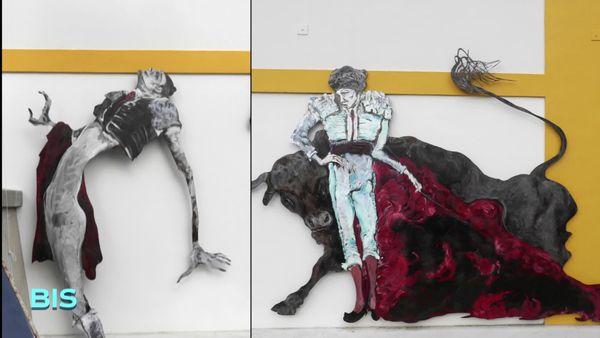 Fresque pour le centenaire des arènes de Dax par Lydie Arickx en 2013