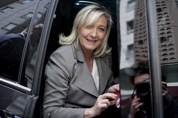 Marine Le Pen, candidate aux élections régionales en Nord Pas-de-Calais Picardie.