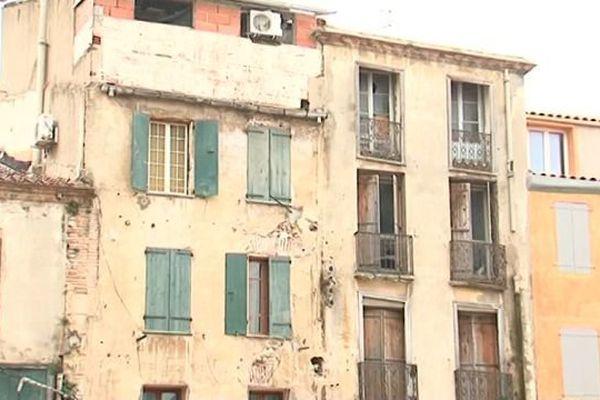 Des immeubles vétustes du quartier Saint-Jacques à Perpignan - 11 mai 2016