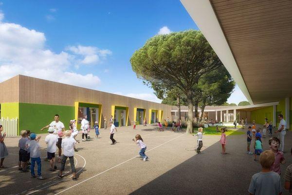 Simulation numérique du projet de construction de l'école des Chênes à Fréjus