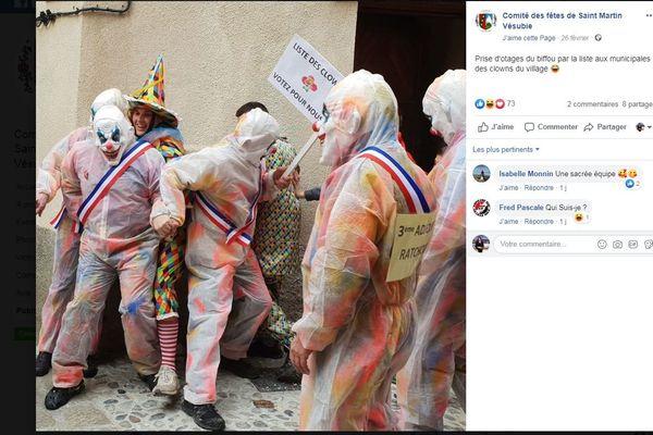 publication FB du Comité des fêtes de Saint Martin Vésubie