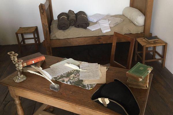 La chambre de Napoléon, à la caserne d'Auxonne