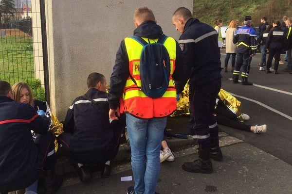 Exercice attentat à la fac d'Angers, le 14 novembre 2018