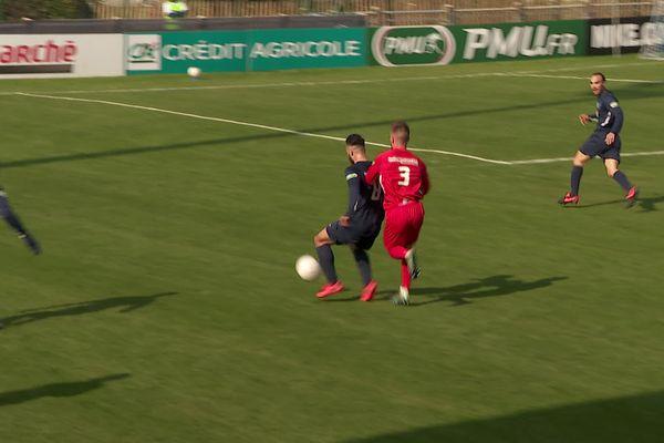 Les joueurs de Rumilly l'ont emporté aux tirs au but face à Annecy en seizièmes de finale de la Coupe de France, le 6 mars 2021.