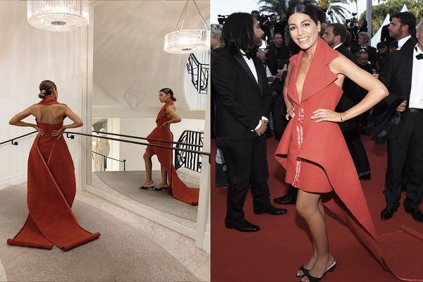 Fadela Mecheri a publié des photos de sa robe sur son compte Instagram.