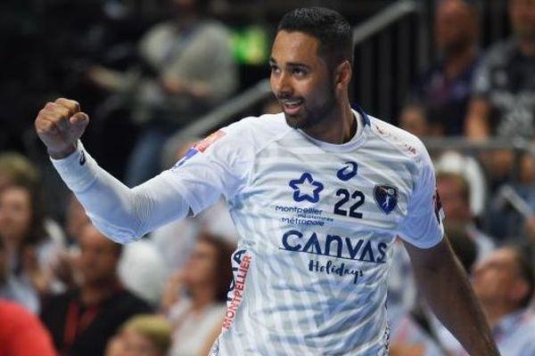 Melvyn Richardson a aidé Montpellier à s'imposer à Chambéry. Ici, on le voit lors d'un match contre le HC Vardar Skopje, lors de la Ligue des Champions le 26 mai 2018.