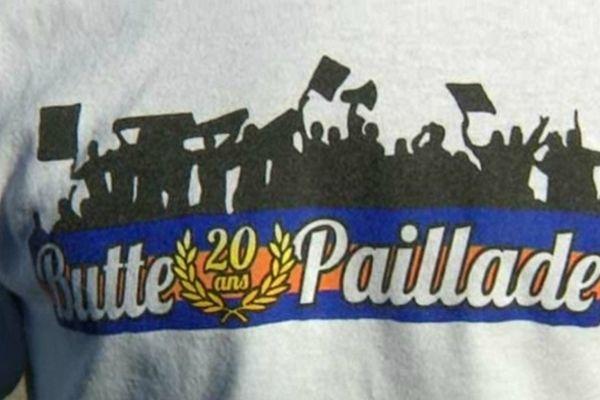 Le maillot du club de supporters de la Paillade