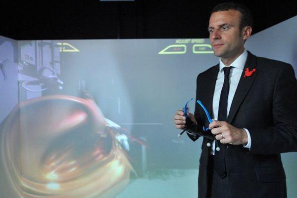 Confirmation du label FrenchTech pour LornTech (Sillon Lorrain), lundi 25 juillet 2016, par Emmanuel Macron, ministre de l'Economie à Laval