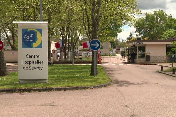 L'entrée du Centre Hospitalier Spécialisé de Sevrey en Saône-et-Loire (image d'illustration)