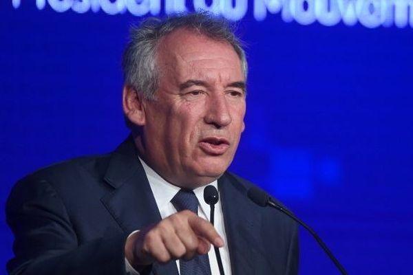François Bayrou, président du mouvement démocrate, le 29/9/2019 à Guidel lors de la réunion annuelle du MODEM