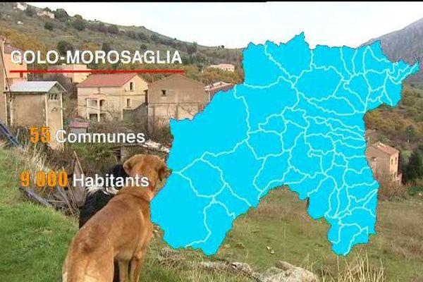 ILLUSTRATION - 750 km2, 55 communes, 9000 habitants, le tentaculaire canton de Golo Morosaglia