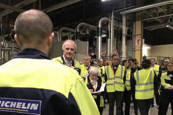 Florent Menegaux, le PDG de Michelin, était en visite à Clermont-Ferrand lundi 2 décembre sur le site des Gravanches.